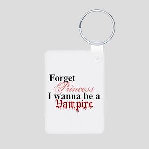 Forget princess Vampire Aluminum Photo Keychain
