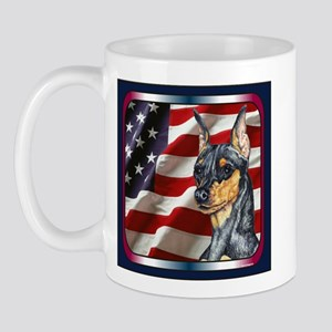 Miniature Pinscher Flag Mug