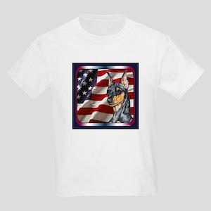 Miniature Pinscher Flag Kids T-Shirt