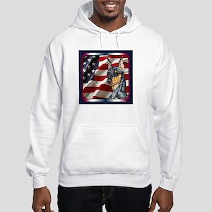 Miniature Pinscher Flag Hooded Sweatshirt