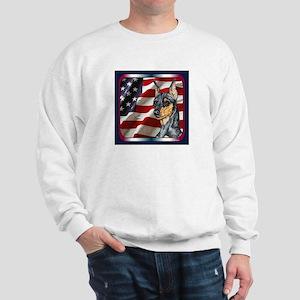 Miniature Pinscher Flag Sweatshirt