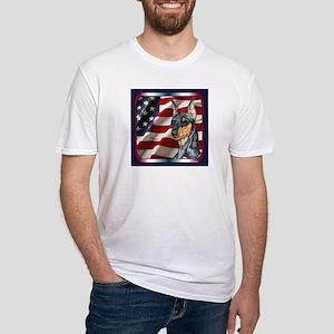 Miniature Pinscher Flag Fitted T-Shirt