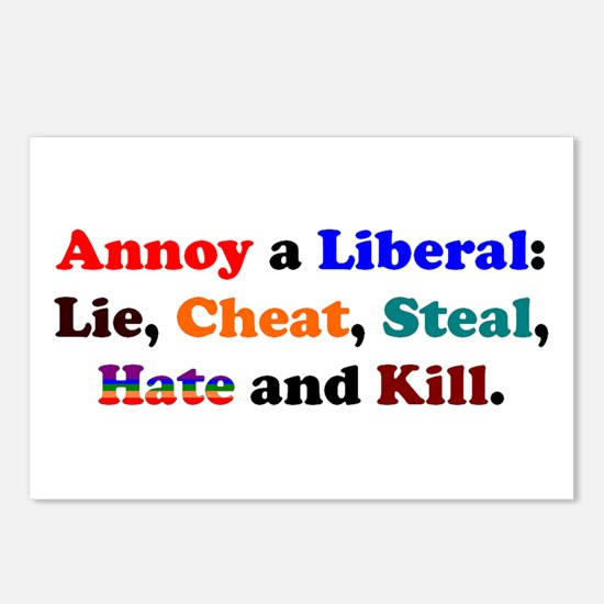 Annoy a Liberal Postcards (Package of 8)