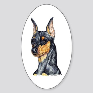 Miniature Pinscher Min Pin Oval Sticker