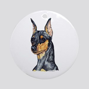 Miniature Pinscher Min Pin Ornament (Round)