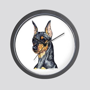Miniature Pinscher Min Pin Wall Clock