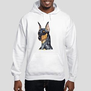 Miniature Pinscher Min Pin Hooded Sweatshirt