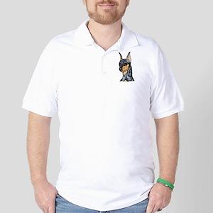 Miniature Pinscher Min Pin Golf Shirt