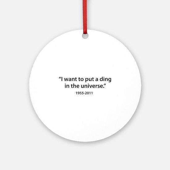 Steve Jobs Ornament (Round)