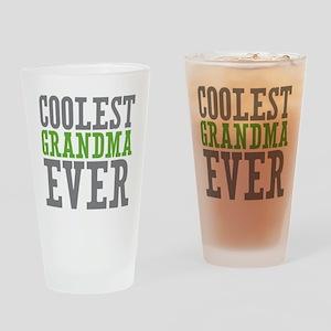 Coolest Grandma Drinking Glass