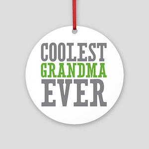 Coolest Grandma Ornament (Round)