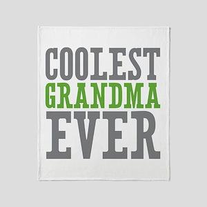 Coolest Grandma Throw Blanket