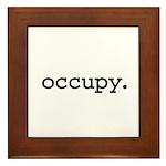 occupy. Framed Tile