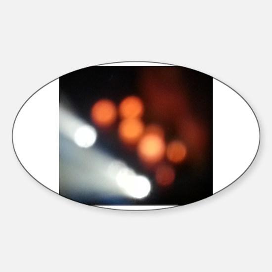 Funny Night camera Sticker (Oval)