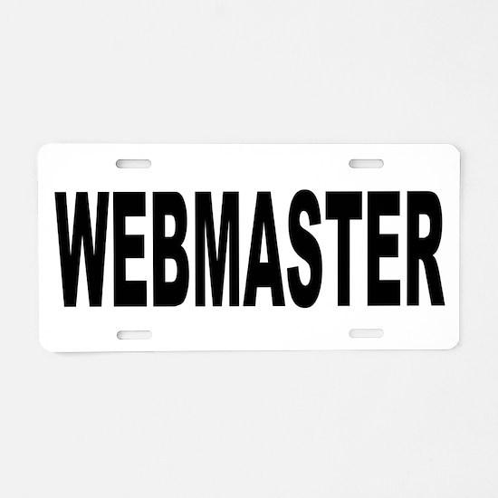 Webmaster Aluminum License Plate