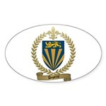 DUPERRE Family Crest Oval Sticker
