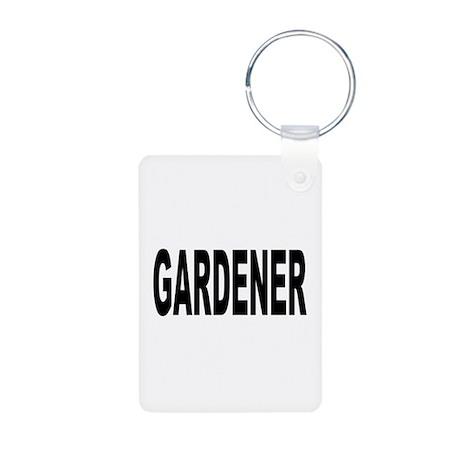 Gardener Aluminum Photo Keychain