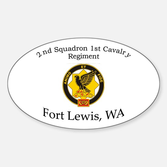 2nd Squadron 1st Cavalry Sticker (Oval)