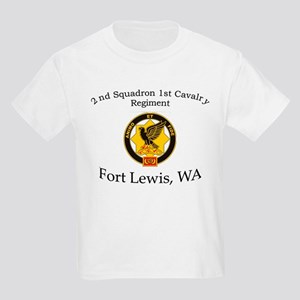 2nd Squadron 1st Cavalry Kids Light T-Shirt