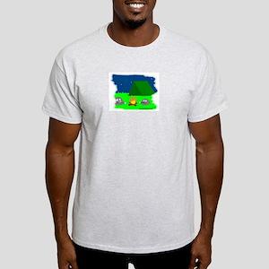 CAMPING ROCKS (CARTOON LOOK) Ash Grey T-Shirt