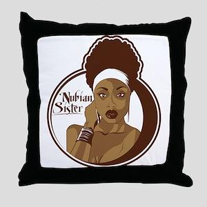 Nubian Sister Throw Pillow