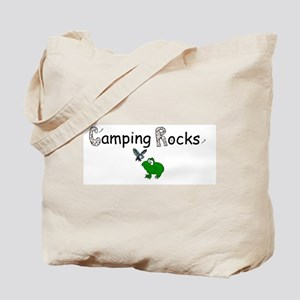CAMPING ROCKS FROG Tote Bag