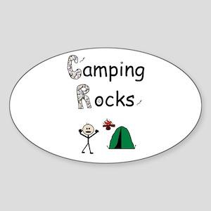 CAMPING ROCKS Oval Sticker