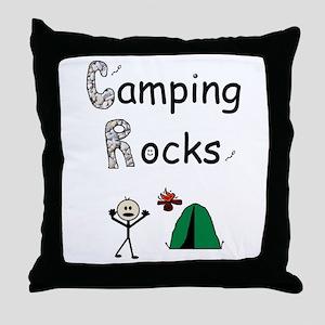 CAMPING ROCKS Throw Pillow