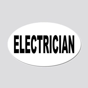 Electrician 22x14 Oval Wall Peel