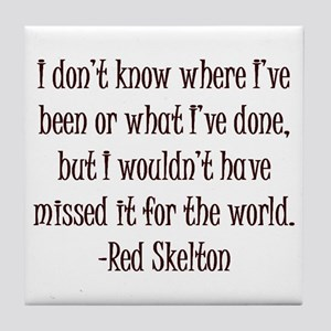 R. Skelton Quote Tile Coaster