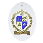 CHASSE Family Crest Oval Ornament