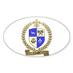 CHASSE Family Crest Oval Sticker