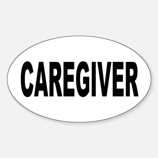 Caregiver Sticker (Oval)