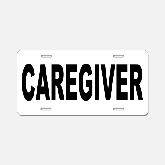 Caregiver Aluminum License Plate