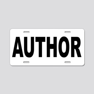 Author Aluminum License Plate