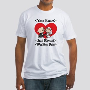 Just Married (Add Names & Wedding Date) Fitted T-S
