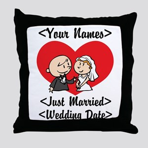 Just Married (Add Names & Wedding Date) Throw Pill