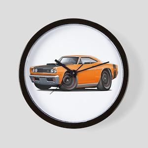 1969 Super Bee A12 Orange Wall Clock