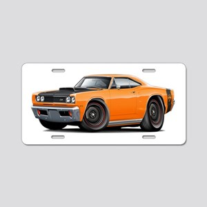 1969 Super Bee A12 Orange Aluminum License Plate