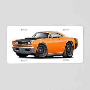 0004fd307e1a75 1969 Super Bee A12 Orange Aluminum License Plate