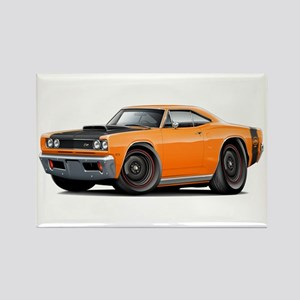 1969 Super Bee A12 Orange Rectangle Magnet