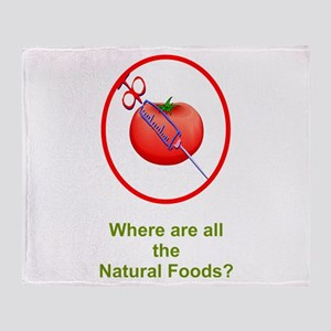 Natural Foods? Throw Blanket