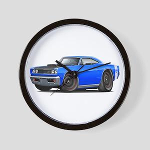 1969 Super Bee A12 Blue Wall Clock