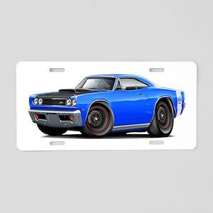 1969 Super Bee A12 Blue Aluminum License Plate