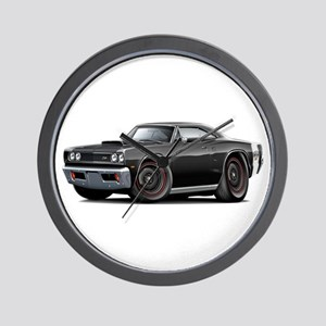 1969 Super Bee A12 Black Wall Clock