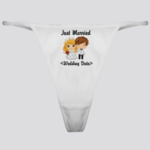 Just Married (Add Your Wedding Date) Classic Thong
