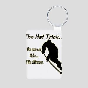 The Hat Trick Aluminum Photo Keychain