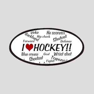 I Love Hockey Patches