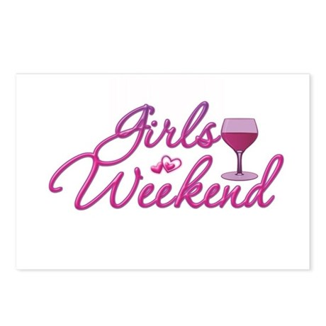 girls weekend night out bachelorette party postcar by