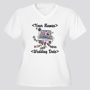 Just Married (Add Names & Wedding Date) Women's Pl